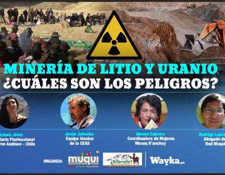 Conversatorio: Minería de Litio y Uranio ¿Cuáles son los peligros?